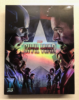 Capitan America Civil War Blu Ray Steelbook 3d 2d