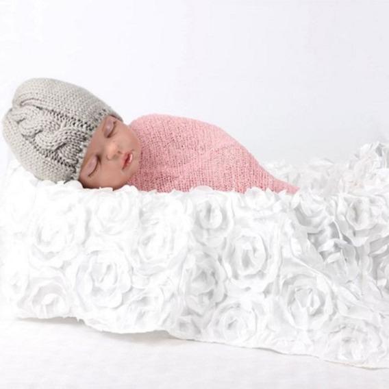 Manta Flor 3d Cenário P/ Ensaio Fotográfico Newborn