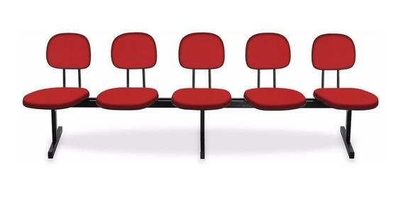 Cadeira Longarina - Igrejas, Auditório, Recepção - 5 Lugares