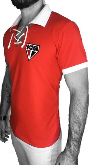 Camisa Polo São Paulo Retro Cordinha