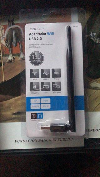 Adaptador Usb 2.0 Wifi 802.11b/g/n Con Antena Wireless 5dbi
