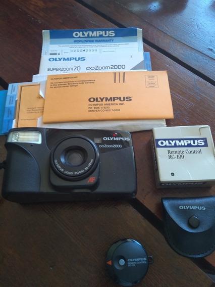 Máquina Fotográfica Olympus Zoom 2000 Vintage, Raridade.