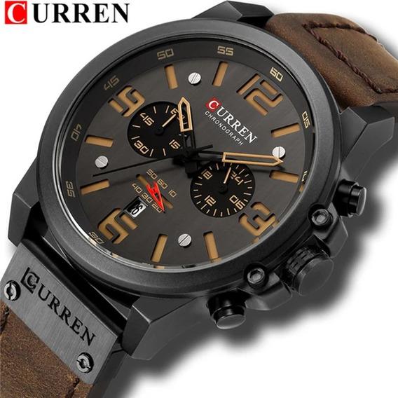 Relógio Masculino Importado Curren, Analógico, Casual.