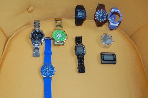 Relógios Lote Com 8 Relógios Usados