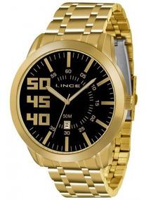 Relógio Lince Mrg4332s P2kx Dourado Masculino - Refinado
