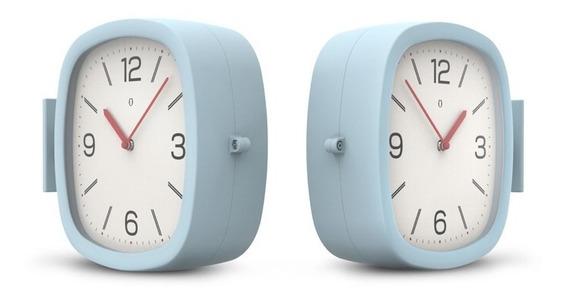 Reloj De Pared Bifaz Doble Dual Gato Colores