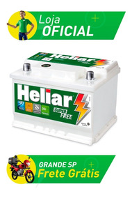Bateria De Carro Heliar Super Free - 60 Amperes - Hf60hd