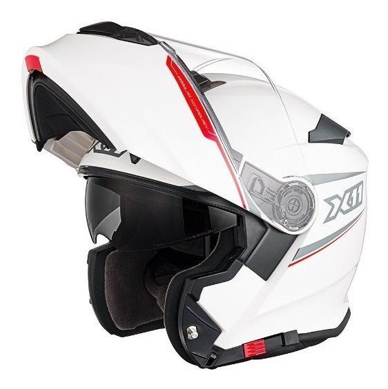 Capacete Moto X11 Turner Articulado Viseira Solar Branco