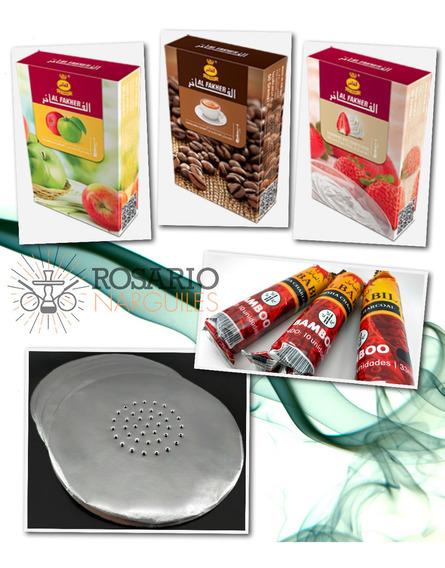 Kit De Inicio Al Fakher Narguile X 3 - Tabaco+carbón+papel