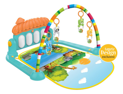 Tapete De Atividades Infantil Com Brinquedos E Piano Musical