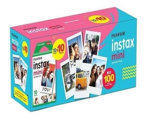 Kit Filme 100 Poses Fujifilm Fotos Instax Mini