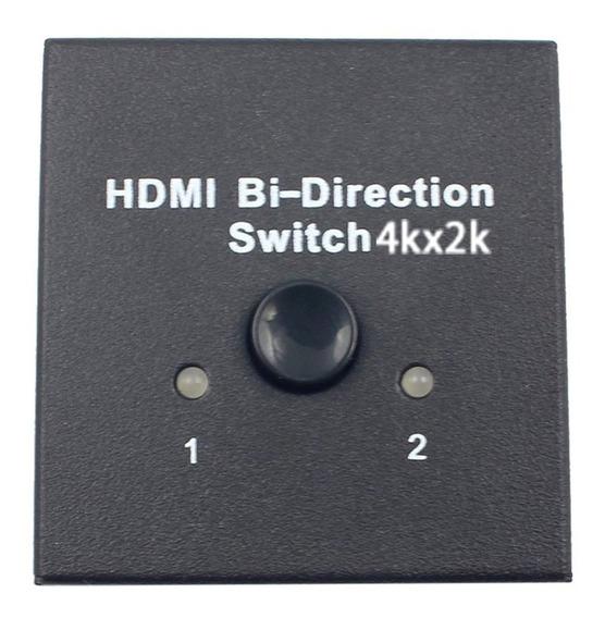 Hdmi Bi Direccional Switch Hdmi Interruptor Hdmi 2x1 / 1x2 A