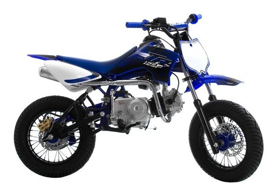 Mini Moto Pro Tork Tr125 F Supermotard Blue Azul