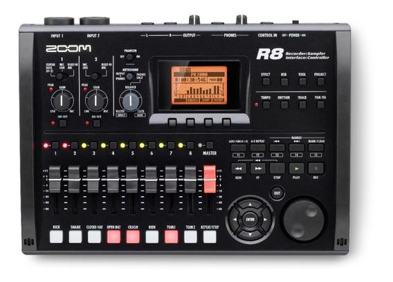 Zoom R8 Mesa Gravadora, Mixer E Interface De Áudio