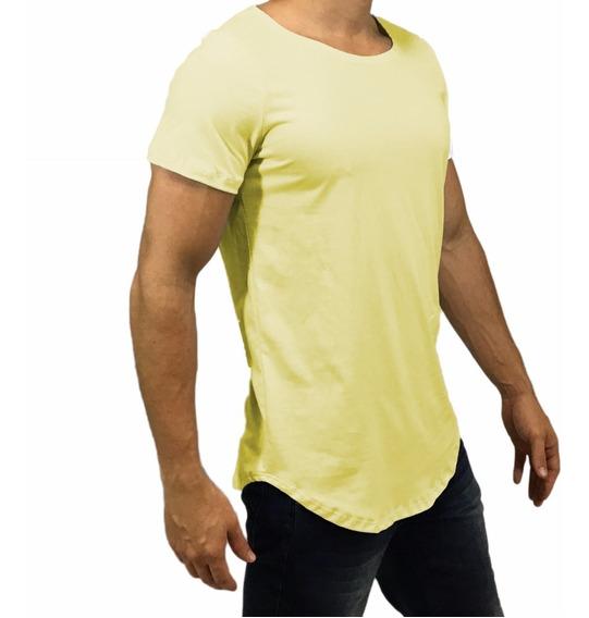 Camisa Oversized Longline Masculina Escaping Gola Canoa