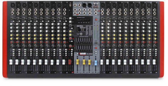 Mesa Mixer 20 Canais Novik Neo Nvk 20m Bt Com Bluetooth