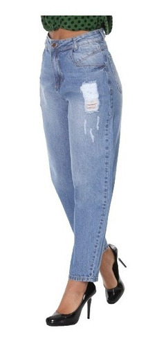 Imagem 1 de 4 de Calça Jeans Slouchy Feminina Sawary