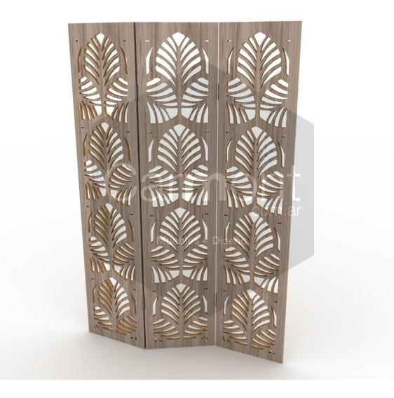 Biombo Separador Ambiente Panel Decorativo Hoja 1.80x0.40