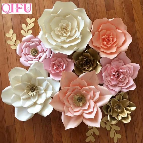 Flores De Papel Kit Com 5+folhas