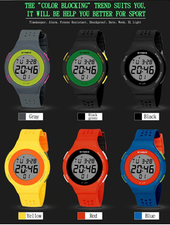 Relojes Synoke Sports -luz Fecha-crono Sumerg 50ms Japan
