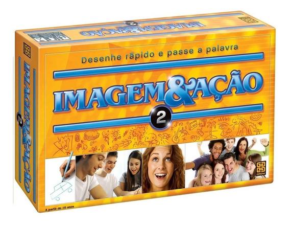 Jogo De Tabuleiro Grow Imagem & Ação 2 Família 2400 Palavras