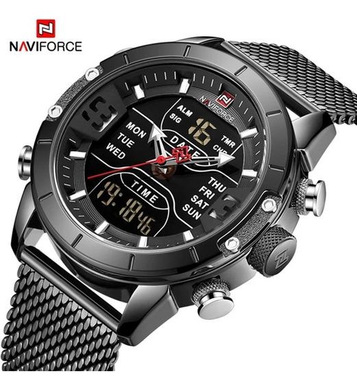 Relógio Masculino Naviforce Nf 9153 Analógico/digital+caixa