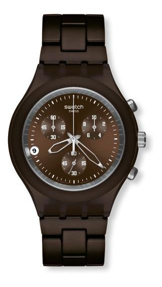 Relógio Swatch Full Blooded Smoky Marrom Svcc4000ag