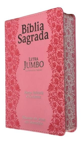 A Bíblia Sagrada Com Harpa Corrigida E Revista Letra Jumbo