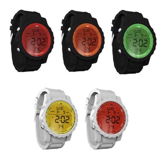 Kit 5 Relógio Masculino / Unissex Digital Emborrachado 18k