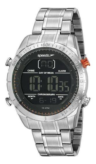 Relógio Masculino Speedo 15021g0evns1 48mm Aço Prata