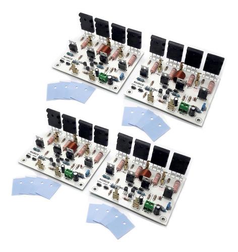 Kit 4 Placas Amplificador 200w Rms ,caixa Ativa,potente.