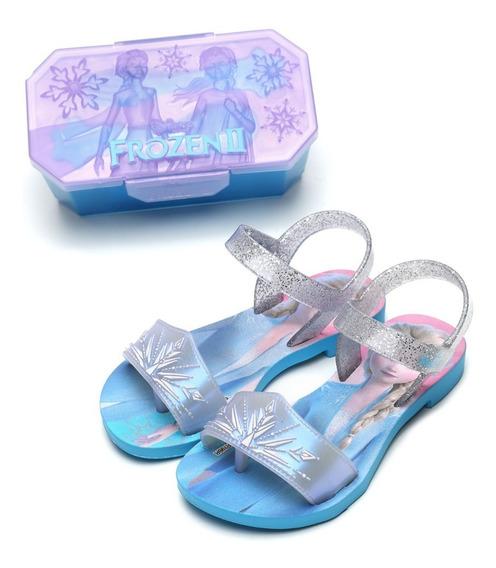Sandália Infantil Meninas Frozen Magic Snow Disney + Brinde