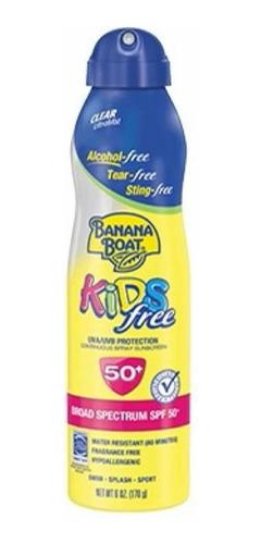 Imagem 1 de 1 de Protetor Solar Spray Banana Boat Kids Spf50 170gr
