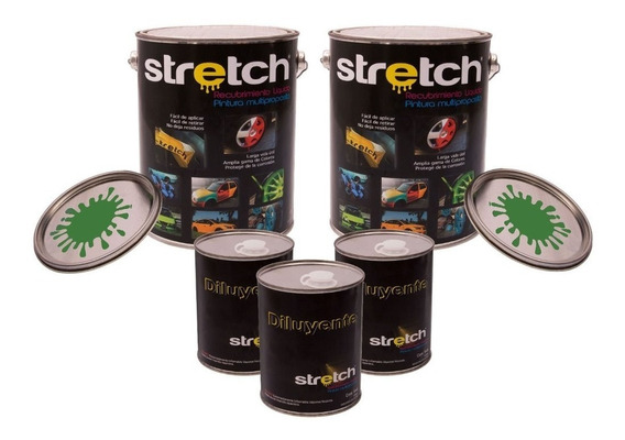 Pintura Stretch Verde Militar 8l + 4l Diluyente South Colors