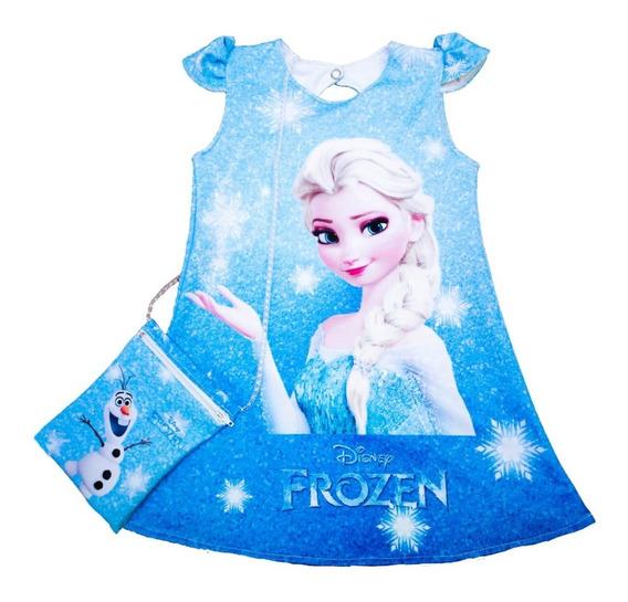 Vestido De Princesa Elsa De Frozen