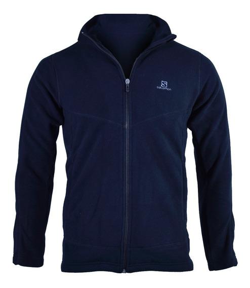 Campera Polar Salomon Jacket Hombre Azul
