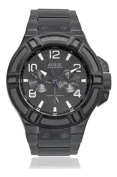 Relógio Masculino Guess Analógico 92479gpgssa8 Aço Negro