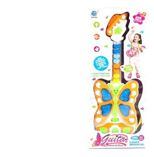 Ap Guitar Mariposa Luz Sonido Niños Y Niñas Babys 20x47x4cm