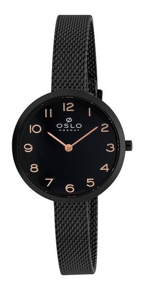 Relogio Oslo Ofpsss9t0001 P2px Analogico Preto
