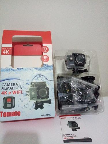 Câmera Filmadora 4k Wifi Prova D'água Tomate
