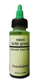 Colorante Verde Neon Liquido Chefmaster 2 Onzas 60 Ml