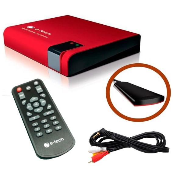 Receptor Antena Tv Digital Dvd Automotivo Kit P/carro E-tech