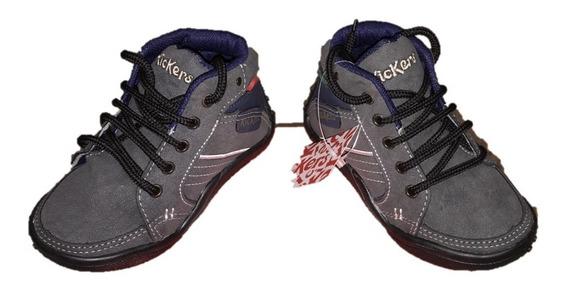 Bota De Cuero Kickers Niños