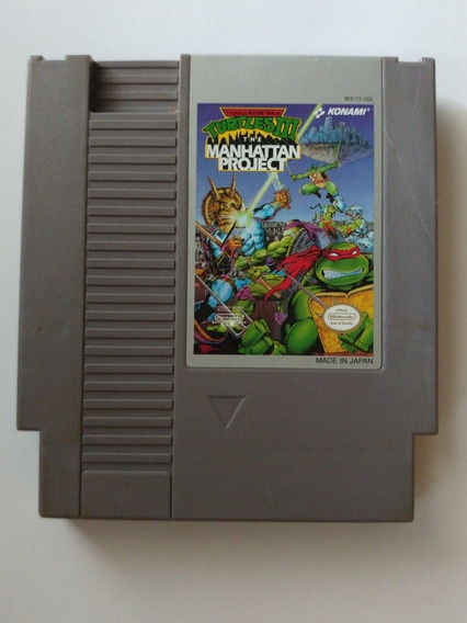 Teenage Mutant Ninja Turtles Iii 3 Manhattan Project Nes