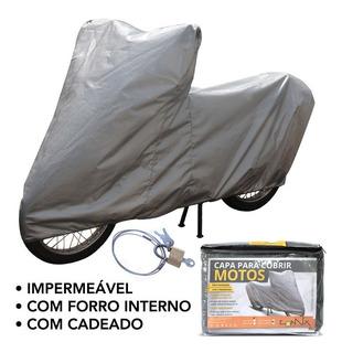 Capa Impermeável Moto C/ Cadeado Yamaha Neo 125 | Cmc1