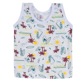 Kit 6 Camisetas Regatas Bebê Menino Menina Viscose Atacado