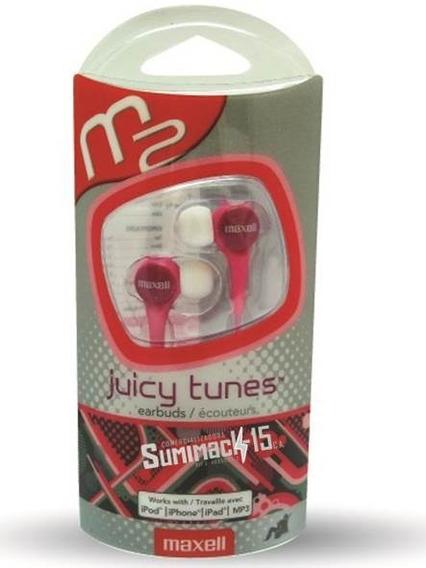 Audifonos Maxell Tipo Boton Juicy Tunes Rosado