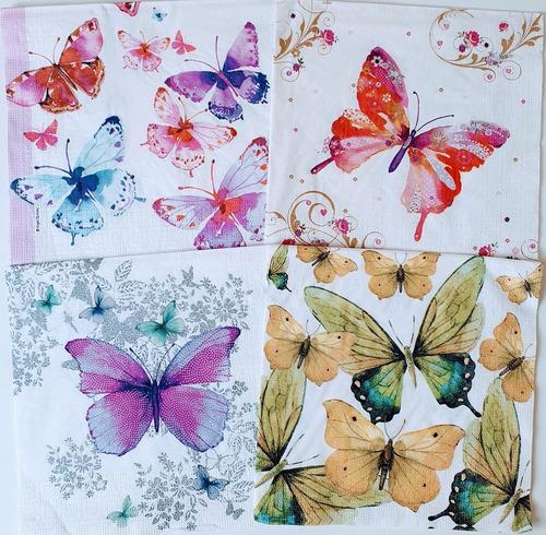 Servilletas Decoupage Set Mariposas Silvestres Laura Craft