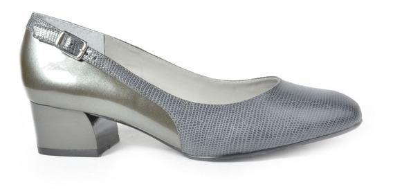 Zapatos Mujer De Cuero Grabado Y Charol Eco. Lima - Ferraro