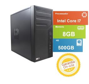 Computador Tob High Com Intel Core I7 8gb De Memória Hd De 5
